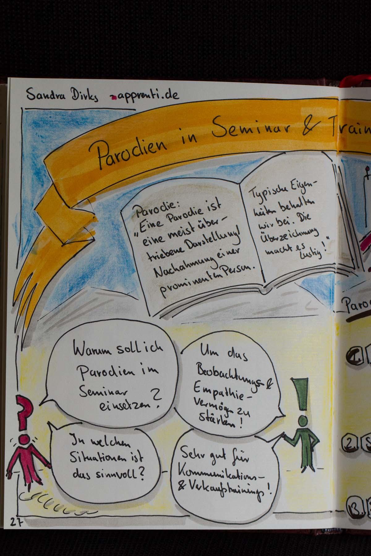 "Blog-Aktion ""Kommunikation ist wertvoll"" - Nr.14 Parodien in Seminar & Training"