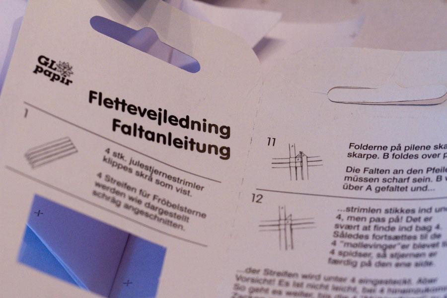 Sandra Dirks - Froebelsterne falten - Anleitung