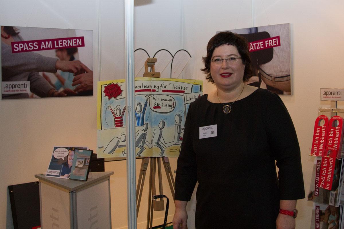 Sandra Dirks - Als Ausstellerin auf der Didacta, im Trainingscenter des Trainertreffens 2012