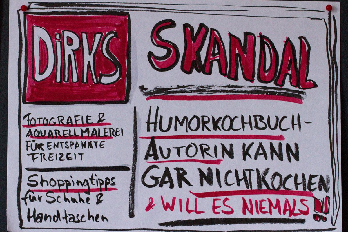 Sandra Dirks: Beispiel für die Einstiegsübung Schlagzeile