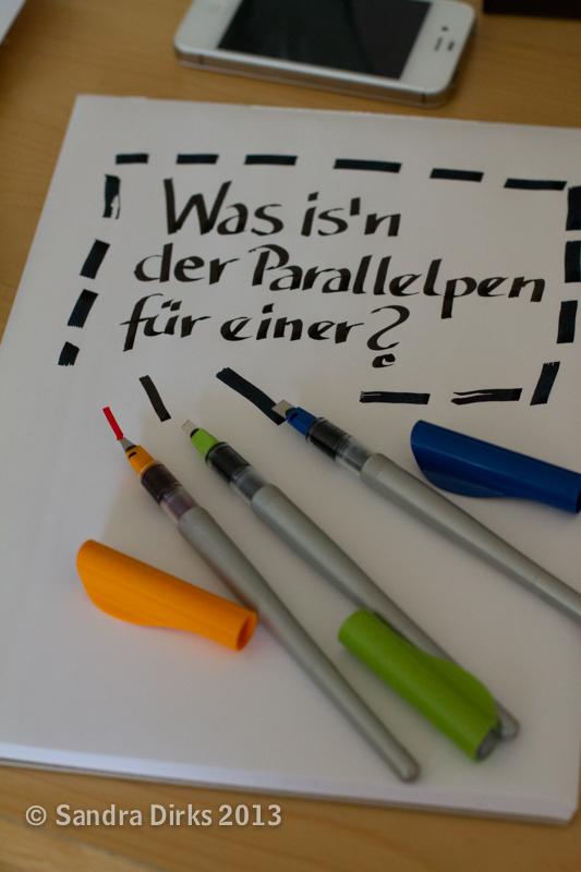 Sandra Dirks - testet die Pilot Parralel Pens, die Kalligrafie Füller von Pilot