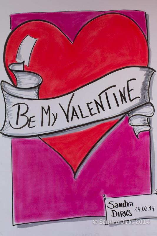 Sandra Dirks - So zeichnest du ein Flipchart zum Valentinstag