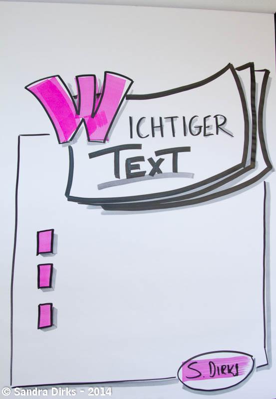 Sandra Dirks - Visuelle Inspiration Textcontainer - Flipcharts zeichnen mit Sandra Dirks
