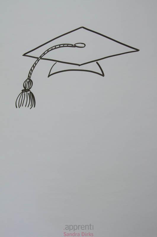 Sandra Dirks - Ein Flipchart mit Doktorhut zeichnen
