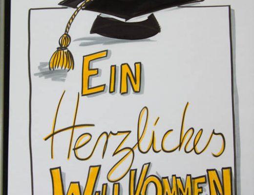 Sandra Dirks - Flipchart Doktorhüte zeichnen