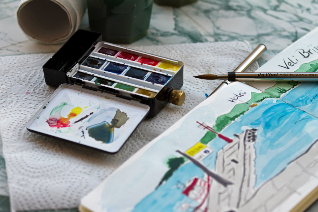 Aquarell-Equipment