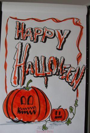 Sandra Dirks - Flipchart mit Kürbis zu Halloween