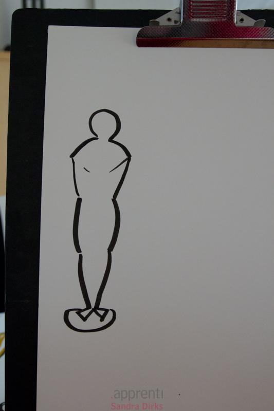 Sandra Dirks - Film-Oscar auf ein Flipchart zeichnen