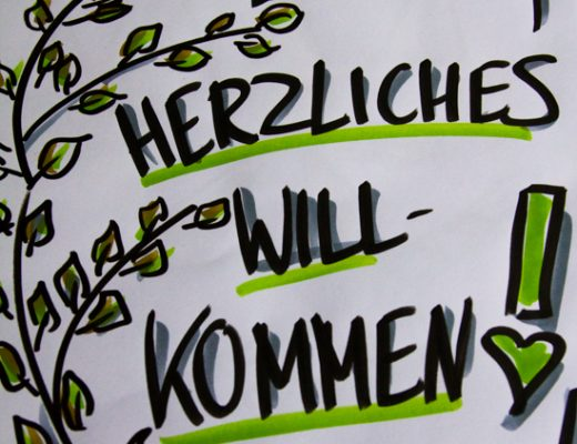 Sandra Dirks - Flipchart Friday: Herzliches Grün - Flipcharts zeichnen mit Sandra Dirks