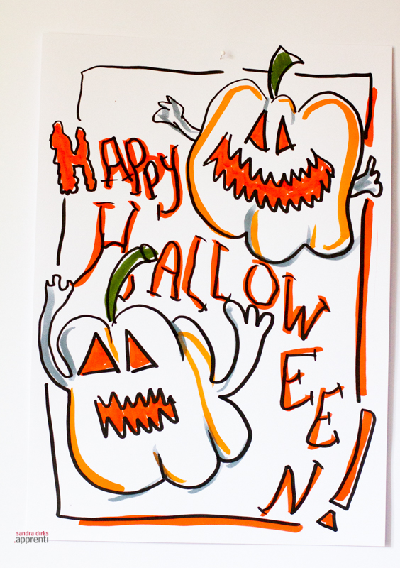 Sandra Dirks - Flipchart Halloween Kuerbis - Flipcharts zeichnen mit Sandra Dirks