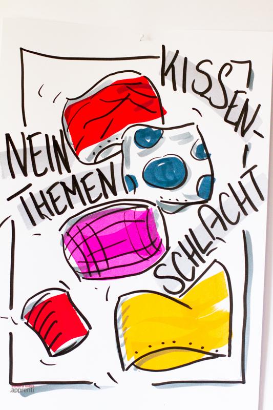Sandra Dirks - Mini-Flipchartkurs: Kissenschlacht - flipcharts zeichnen mit Sandra Dirks