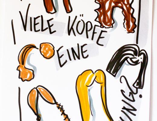 Sandra Dirks - Mini - Flipchartkurs: Viele Koepfe eine Meinung - Flipcharts zeichnen mit Sandra Dirks