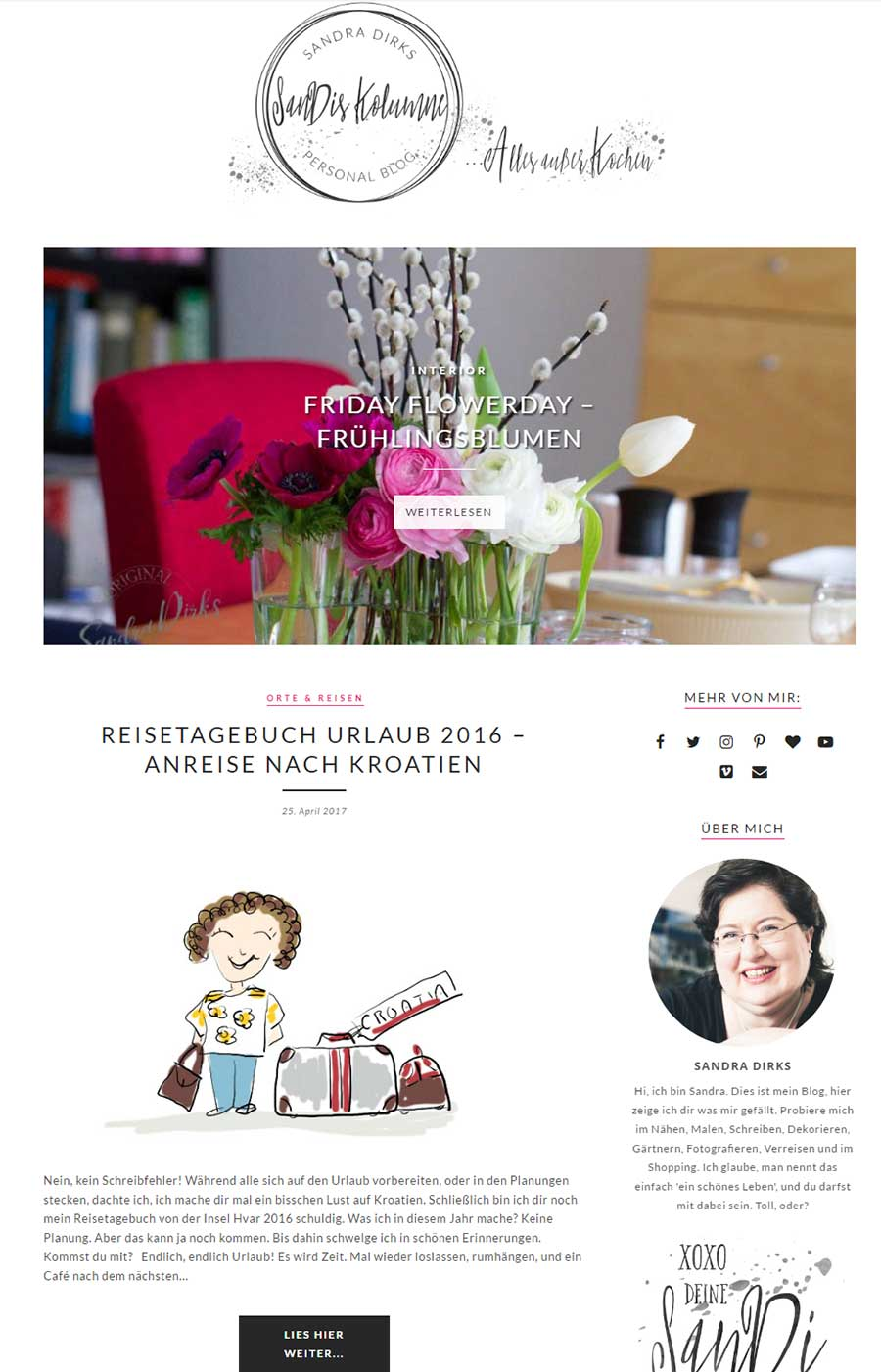 Sandra Dirks - Screenshot SanDisKolumne