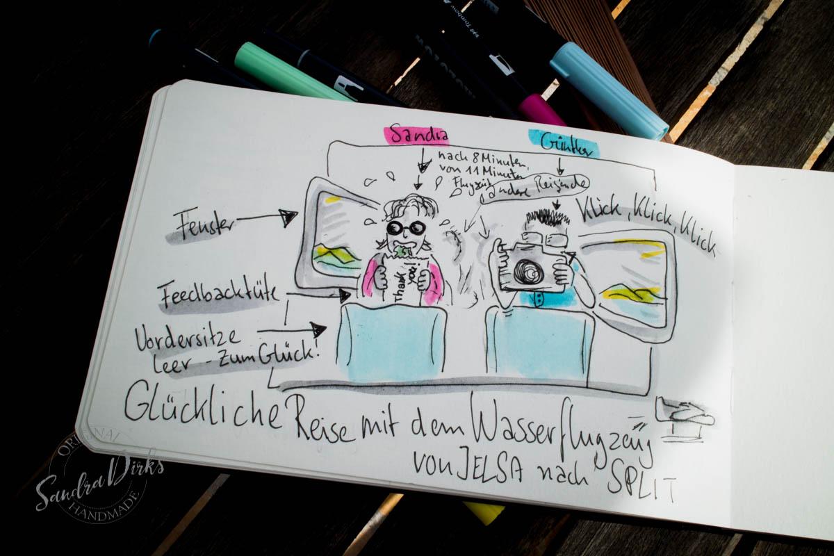 Sandra Dirks - Die Reise im Flugzeug visualisiert.