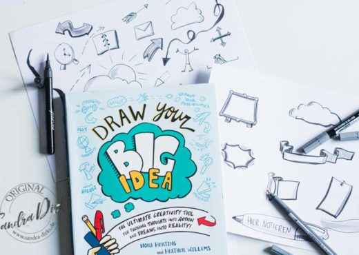 Buchtipp von Sandra Dirks Draw your big idea mit eigenen Zeichnungen