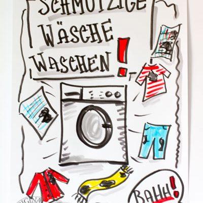 FlipchartFriday_Schmutzige Wäsche waschen mit Sandra Dirks