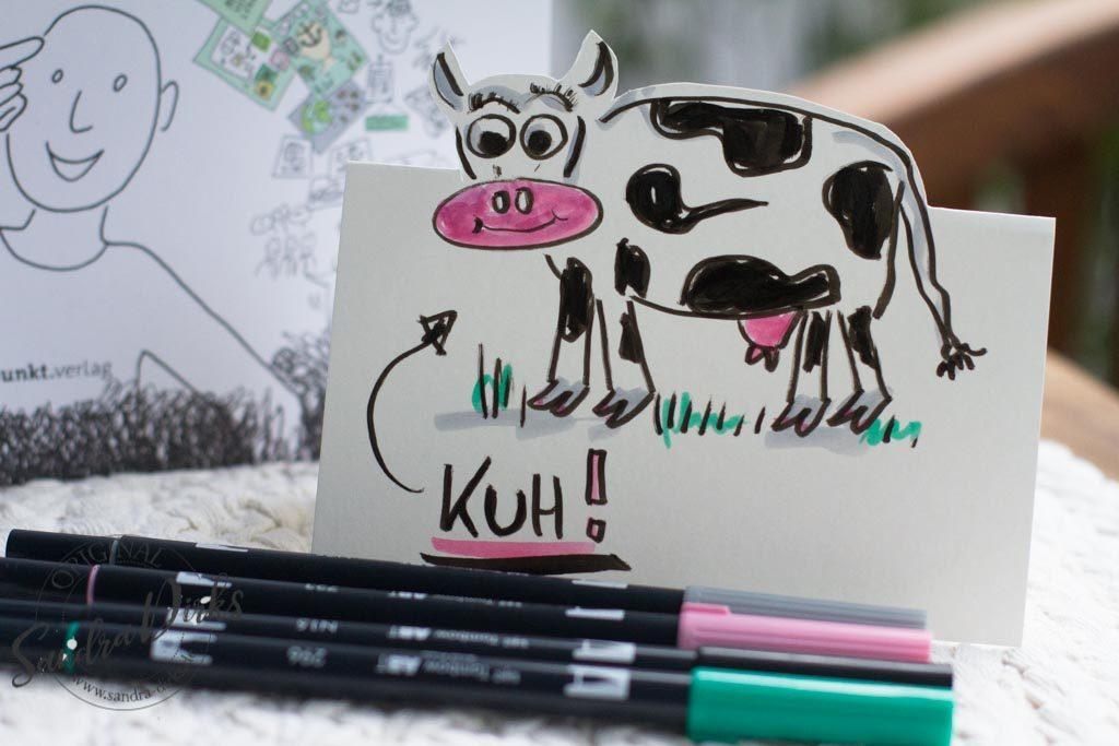 Selbstgezeichnnete Kuh