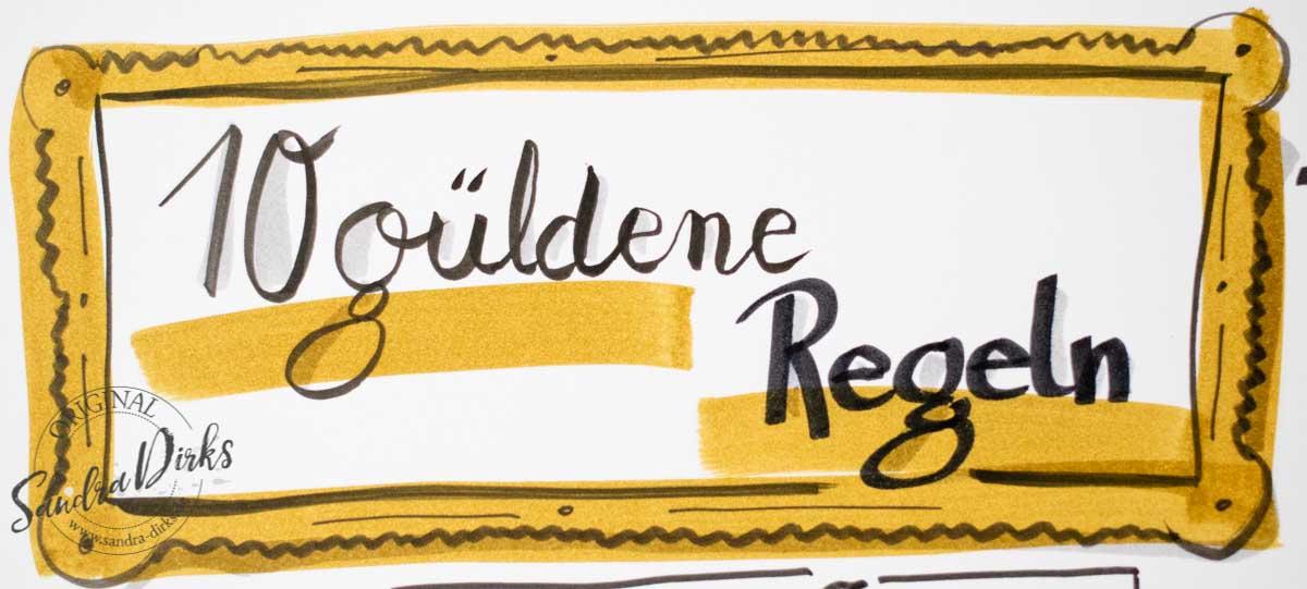 Sandra Dirks - 10 goldene Regeln für Flipcharts Überschriftsbild