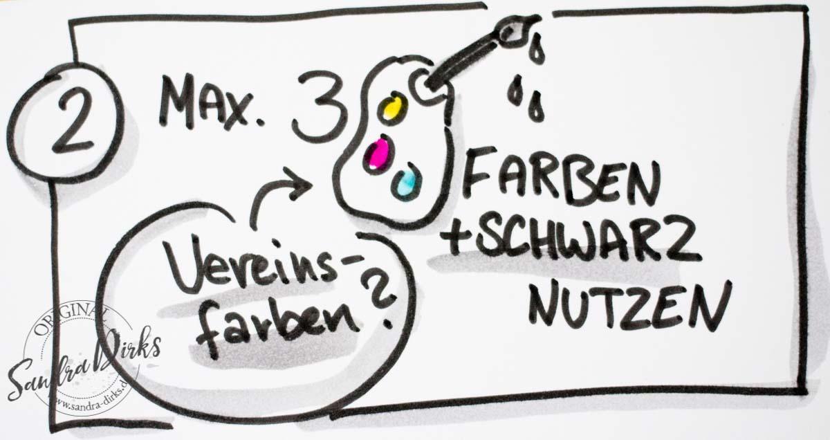 Sandra Dirks - Nutze Max. 3 Farben und schwarz auf dem Flipchart