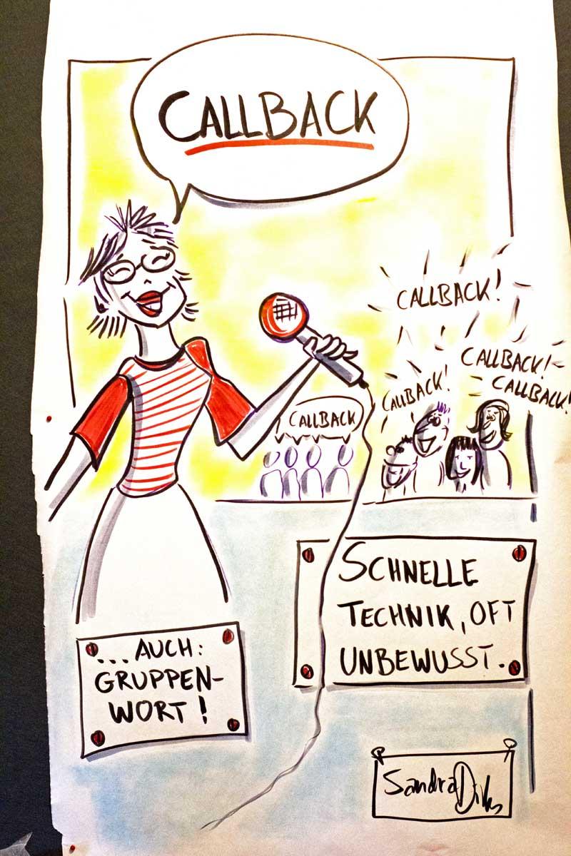Sandra Dirks - Titelbild Callback als Beispiel für eine Vorlage