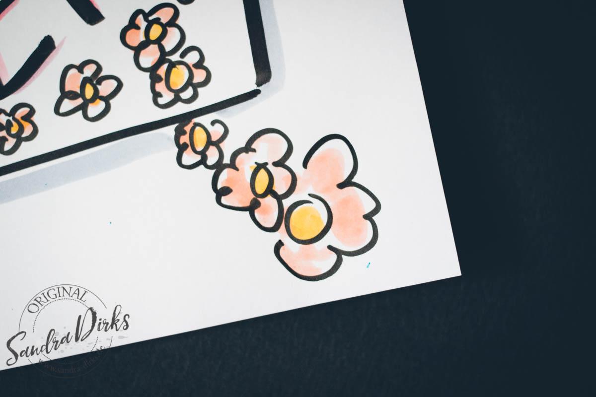 Sandra Dirks - Flipchart Friday Detailfoto Blumenranke