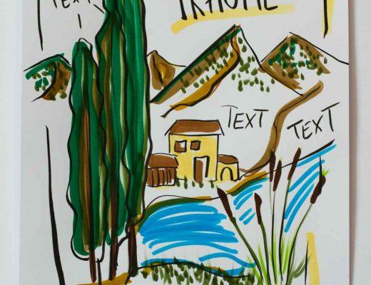 Mini Flipchartkurs: Die romantische Landschaft gezeichnet von Sandra Dirks