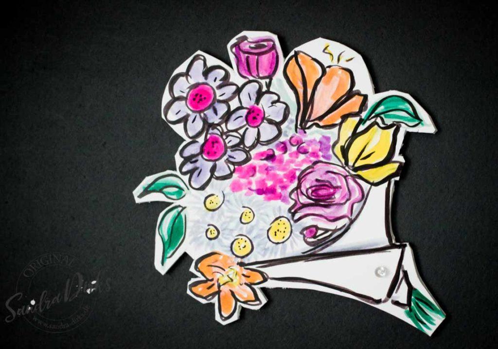 Sandra Dirks - Foamboard Beispiel Blumenstrauss