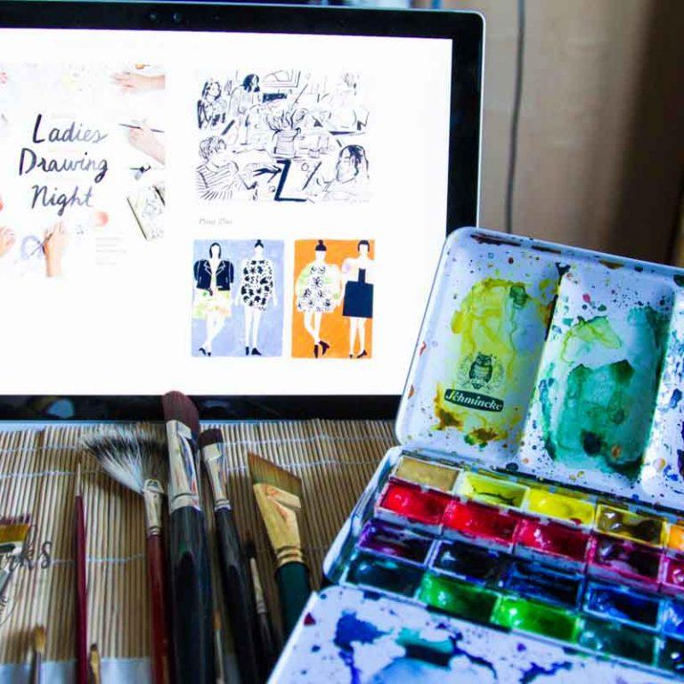 Sandra Dirks - Ladies Drawing Night Titelbild