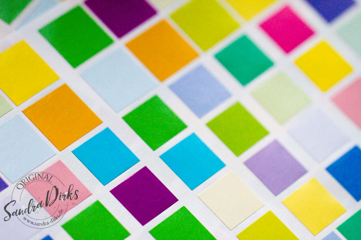 Sandra Dirks - Beispiele für bunte Klebequadrate