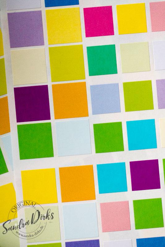 Sandra Dirks - Beispiele für bunte Klebequadrate 2