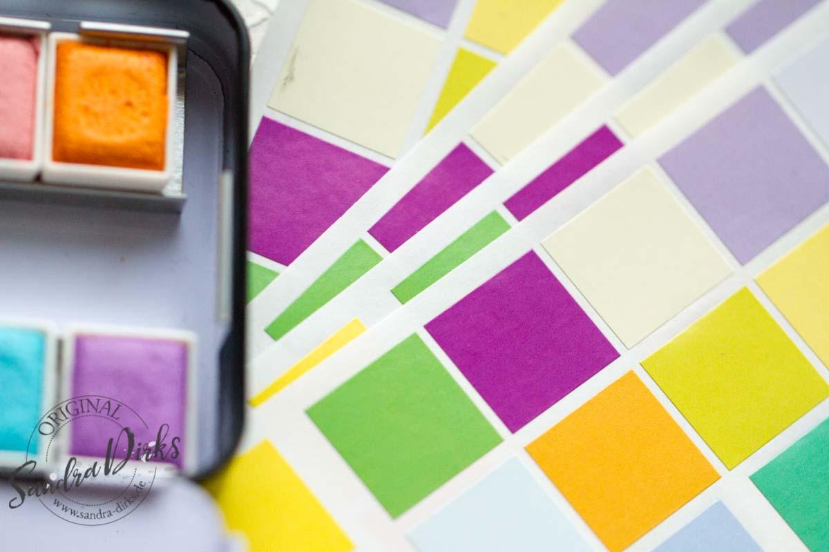 Sandra Dirks - Beispiele für bunte Klebequadrate 4