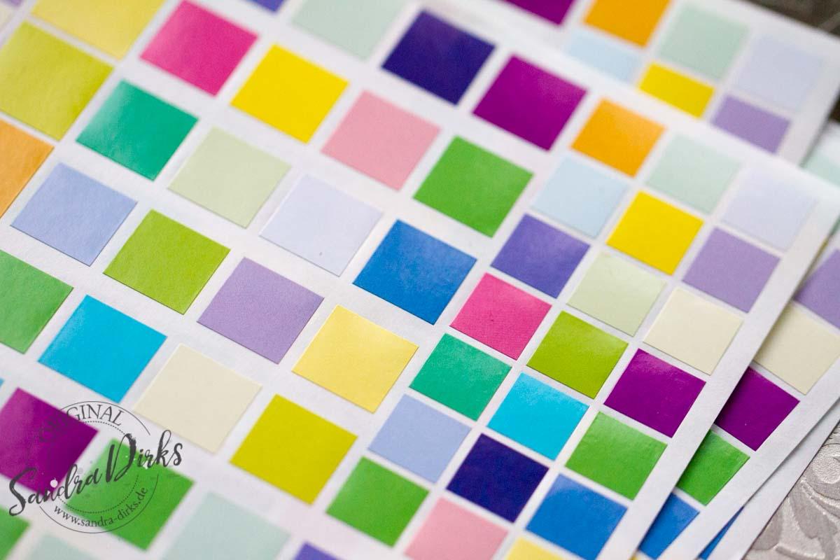 Sandra Dirks - Beispiele für bunte Klebequadrate 5