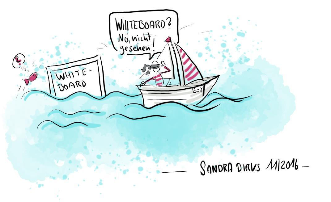 Sandra Dirks - Umschifft geschickt das Whiteboard