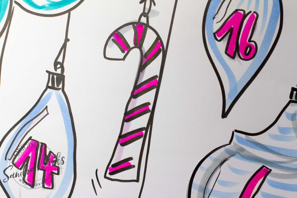 Sandra Dirks Adventskalender am Flipchart - Weihnachtslolli