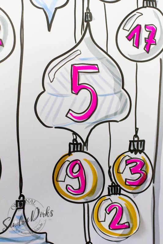 Sandra Dirks - Das Flipchart als Adventskalender Detail die Zahl 5