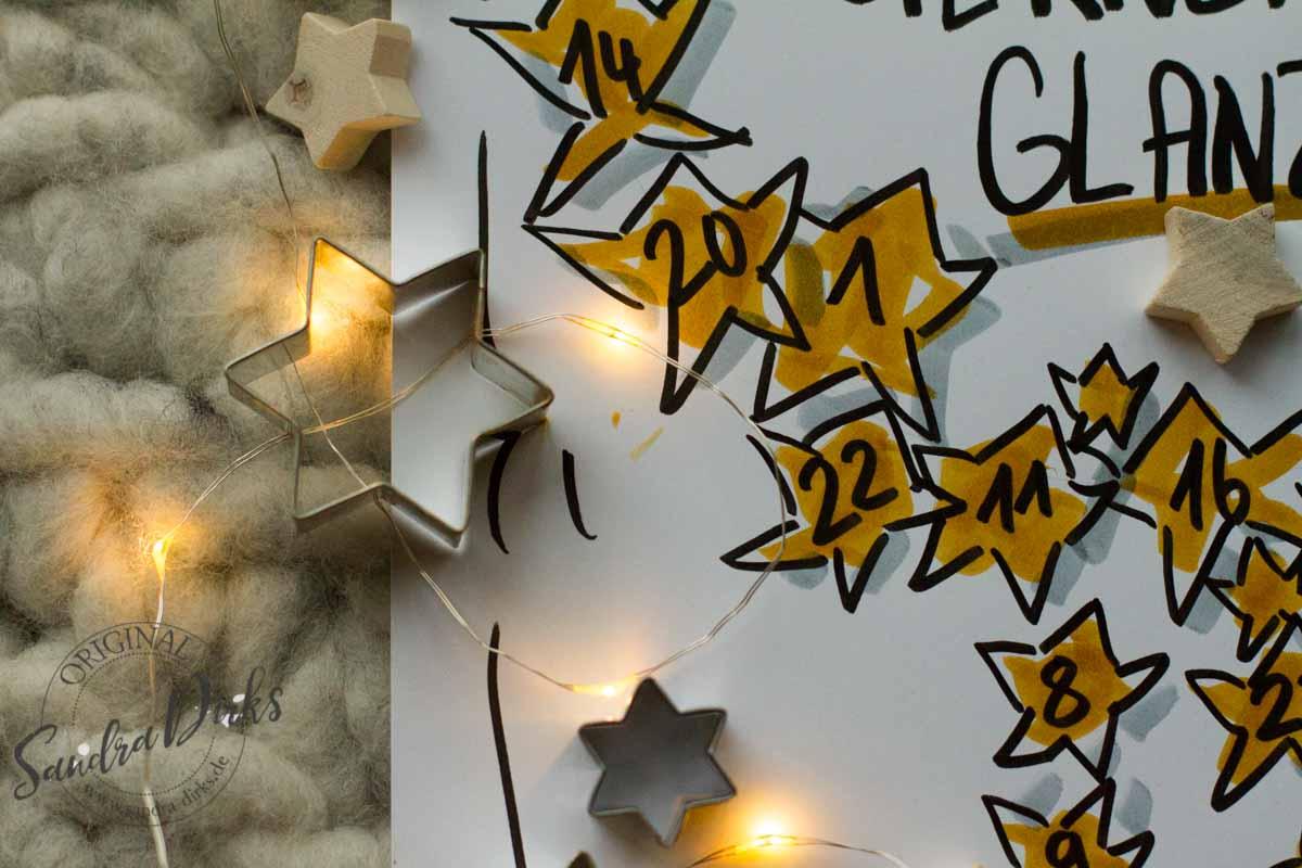 Sandra Dirks - FlipchartFriday Themen im Sternenglanz Detail Sternformen