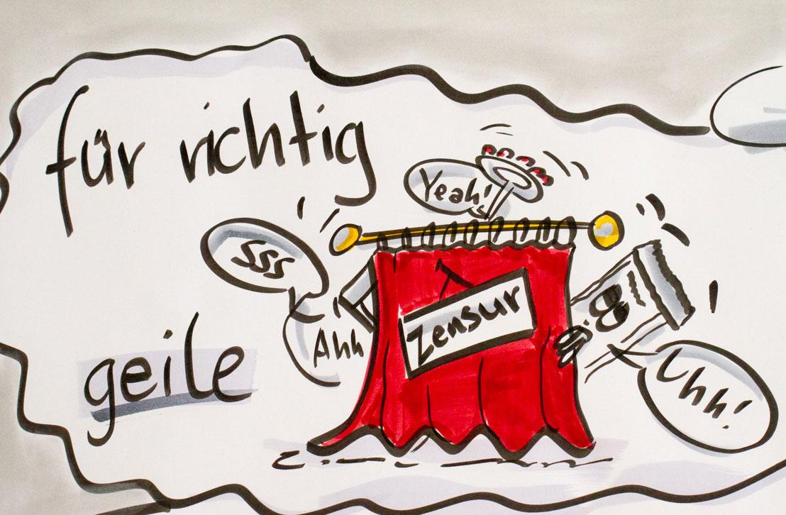Sandra Dirks - was unbeobachtete Flipcharts hinter dem Vorhang tun