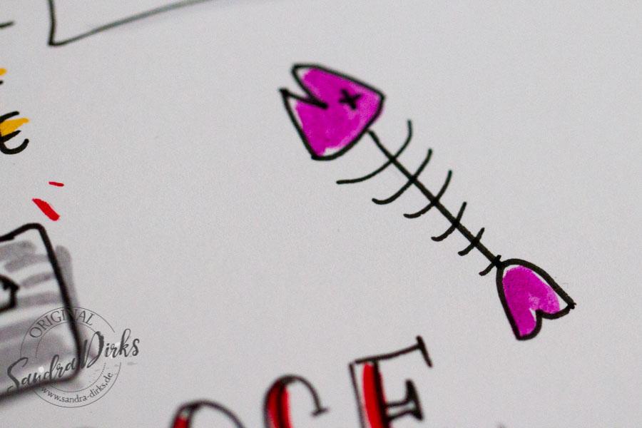 Sandra Dirks - Zeichenbeispiele aus dem Buch Details toter Fisch