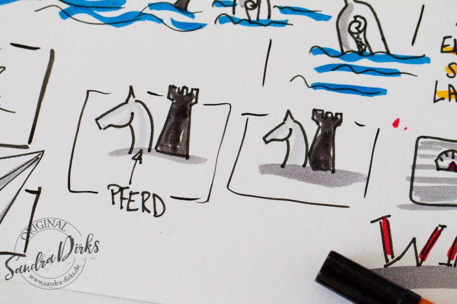 Sandra Dirks - Zeichenbeispiele aus dem Buch Pferdekopf