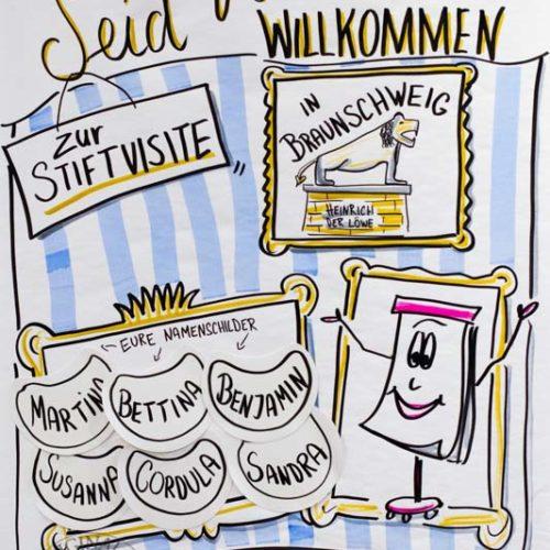 Sandra Dirks - Willkommens-Chart zur Stiftvisite