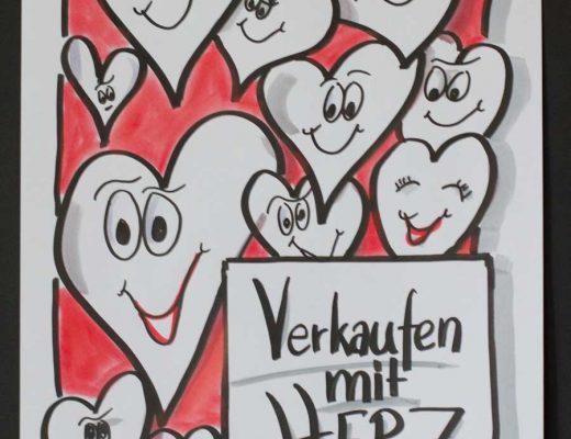 Sandra Dirks - Mini - Flipchartkurs Herzen mit Gesicht Titelbild
