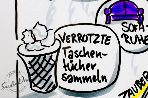 Sandra Dirks - Mini-Flipchartkurs Husten Taschentücher