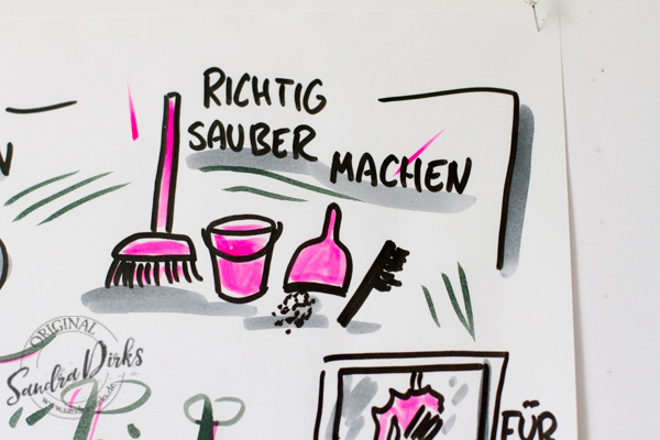 Sandra Dirks - Mini - Flipchartkurs Frühjahrsputz Details 3