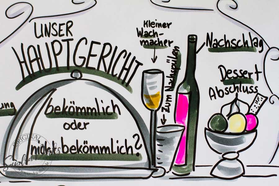 Sandra Dirks - FlipchartFriday Themenmenue Detail mit Dessert