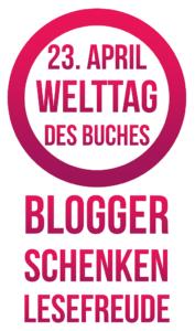 Logo zum Welttag des Buches - Blogger schenken Lesefreude