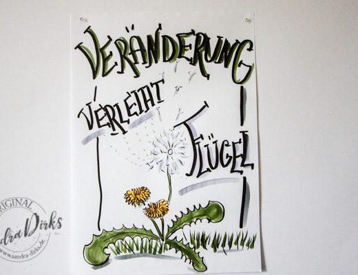 Sandra Dirks - FlipchartFriday der Loewenzahn und die Veränderung Titelbild