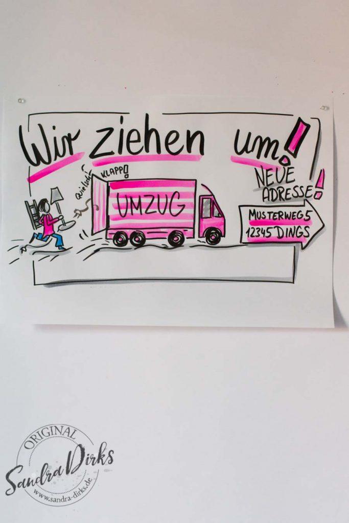 Sandra Dirks - Mini-Flipchartkurs Umzugswagen
