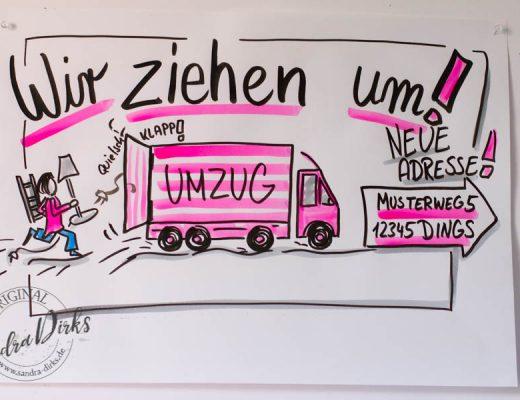 Sandra Dirks - Mini-Flipchartkurs Umzugswagen - Beitragsbild