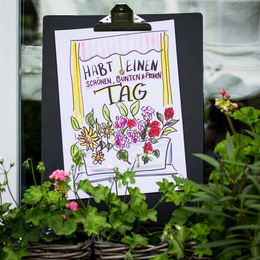Sandra Dirks - Mini - Flipchartkurs Blumenfenster Instagram
