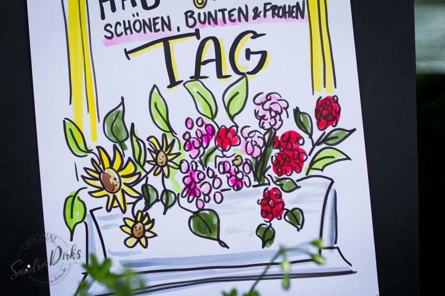 Sandra Dirks - Mini - Flipchartkurs Blumenfenster Detail Blumenkasten